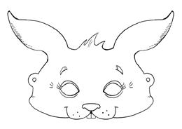 Kaninchen Maske
